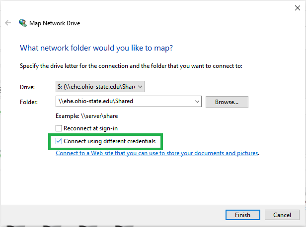 Map Network Drive Screenshot